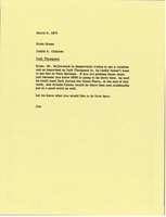 First page of Memorandum from Judy A. Chilcote to Ernie Green