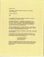 First page of Memorandum from Mark H. McCormack to Jay Michaels, Arthur Rosenblum, Howard             Katz, Phil Pilley, Dave DeBusschere