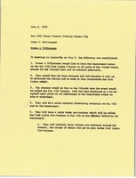 First page of Memorandum from Mark H. McCormack to Bay Hill Citrus Classic working papers file