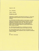 First page of Memorandum from Judy A. Chilcote to Jan Steinmann