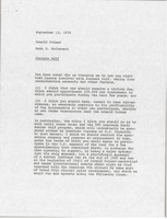 First page of Memorandum from Mark H. McCormack to Arnold Palmer