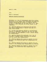 First page of Memorandum from Mark H. McCormack to file