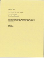 First page of Memorandum from Mark H. McCormack to Hans Kramer and Peter Johnson