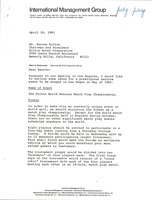 First page of Letter from Mark H. McCormack to Barron Hilton