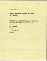 First page of Memorandum from Mark H. McCormack to Roddy Carr, Hughes Norton, Hans Kramer,             Dusty Murdock