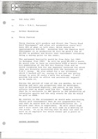 First page of Memorandum from Arthur Rosenblum to Trans World International personnel file