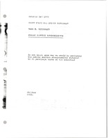 First page of Memorandum from Mark H. McCormack to Barry Frank and Arthur Rosenblum