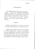 First page of John Fitzgerald and Nippon Rubber contract