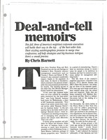 First page of Deal and tell memoirs