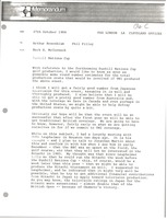 First page of Memorandum from Mark H. McCormack to Arthur Rosenblum and Phil Pilley