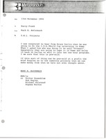 First page of Memorandum from Mark H. McCormack to Barry Frank