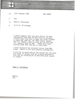 First page of Memorandum from Mark H. McCormack to Uji