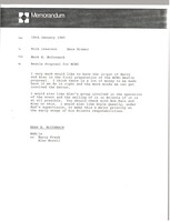 First page of Memorandum from Mark H. McCormack to Rick Isaacson and Hans Kramer