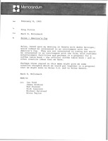 First page of Memorandum from Mark H. McCormack to Doug Pirnie