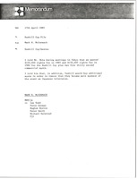 First page of Memorandum from Mark H. McCormack to Dunhill Cup file