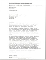 First page of Letter from Mark H. McCormack to Andre J. Heiniger