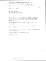 First page of Letter from Laurie Roggenburk to Ned McCormack