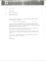 First page of Memorandum from Laurie Roggenburk to Judy Stott