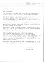 First page of Letter from Donald R. Zook to Mark H. McCormack