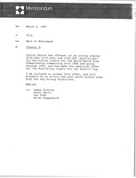 First page of Memorandum from Mark H. McCormack concerning Channel 9