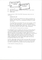 First page of Fax from Mark H. McCormack to Mike Rielly, Alastair Johnston, Hans Kramer and             Peter Smith