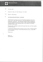 First page of Memorandum from Mark H. McCormack to Robert D. Kain