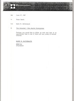First page of Memorandum from Mark H. McCormack to Peter Smith