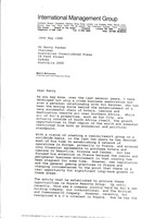First page of Letter from Mark H. McCormack to Kerry Packer