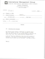 First page of Fax from Mark H. McCormack to Donna Cornachio