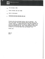 First page of Memorandum from Mark H. McCormack to Peter German and Ian Todd
