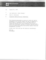 First page of Memorandum from Mark H. McCormack to Ian Todd and H. Kent Stanner