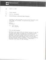 First page of Memorandum from Mark H. McCormack to Chuck Howard