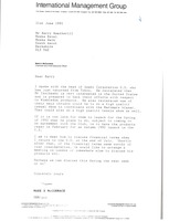 First page of Letter from Mark H. McCormack to Barry Weatherill