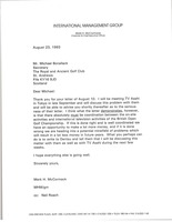 First page of Letter from Mark H. McCormack to Michael Bonallack