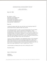 First page of Letter from Mark H. McCormack to Edwin L. Artzt