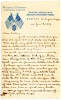 First page of Letter from Charles E. Jackson to sister