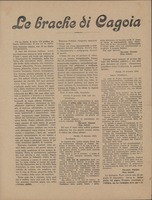 First page of Le brache di Cagoia