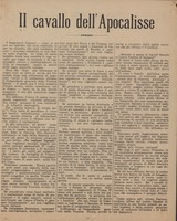 First page of Il cavallo dell'apocalisse