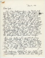 First page of Letter from Carolyn Ellingson to Judi Chamberlin