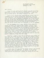 First page of Letter from Judi Chamberlin to Carolyn Ellingson