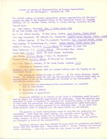 First page of Minutes of meeting of representatives of various organization for the handicapped