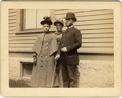 First page of Abby Blanchard with parents Annie Brown Blanchard and C. P. Blanchard (l. to r.)