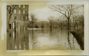 First page of Aftermath of the great Hartford Flood Flooded streets