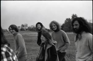 First page of Free Spirit Press crew walking in a field