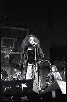 First page of Jethro Tull in concert at the Springfield Civic Center: Ian Anderson at the microphone