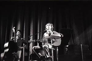 First page of Livingston Taylor in concert: Taylor (acoustic guitar) and Walter Robinson             (acoustic bass)