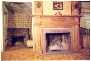 First page of Fireplaces in a living room of the Brotherhood of the Spirit house on Main             Street