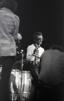 First page of Miles Davis in performance: Miles Davis and band members