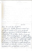 First page of Letter from Maggie Nolan to Gloria Xifaras Clark