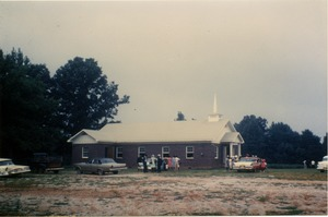 First page of Antioch Church, Blue Mountain, Miss.: rebuilt after an arson attack